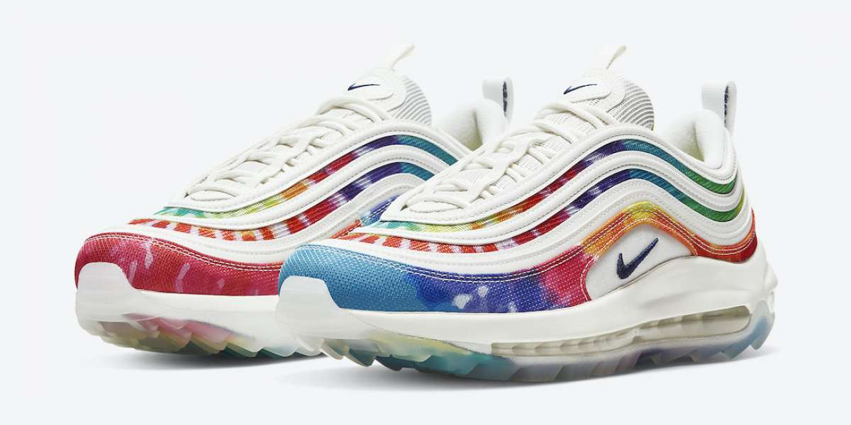 """CK1219-100 Nike Air Max 97 Golf """"Tie Dye"""" to release on  August 6th"""