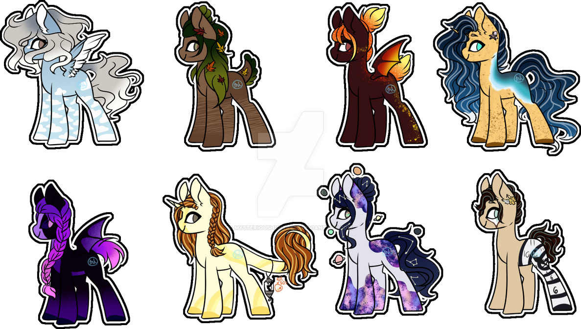 Elemental Adopts (open) 8/8 (Price Lowered) by MysteriousHuntress on DeviantArt
